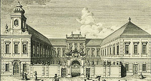 The Gartenpalais Harrach with the Januariuskapelle - today, the chapel is all there is left