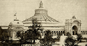 The historic Rotunde building of the Wiener Messe (Vienna Convention Center)