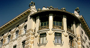 Designed by Otto Wagner, with ornaments by Kolo Moser - the Otto Wagner Haus at the Wienzeile